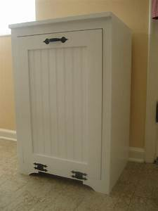 Ana White Tilt out wood trash can cabinet - DIY Projects
