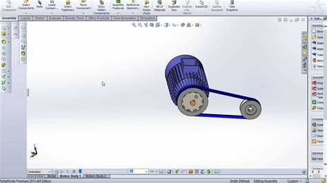 Completed Electrical Motor Pulley System Solidworks
