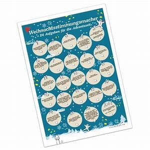 Adventskalender Für Erwachsene : adventskalender weihnachtsstimmungsmacher mit 24 aufgaben f r die adventszeit poster auf ~ Buech-reservation.com Haus und Dekorationen
