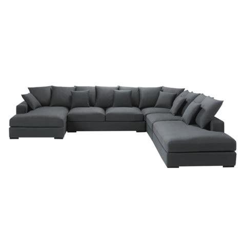canape d angle en u canapé d 39 angle modulable 7 places en coton gris loft