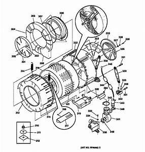 Tub  U0026 Motor Diagram  U0026 Parts List For Model Wsxh208v1ww Ge