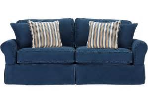 cindy crawford home beachside blue denim sofa isofa hidden