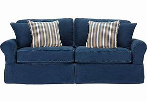 cindy crawford home beachside blue denim sofa isofa hidden With blue denim sofa bed