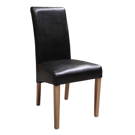 Brown Faux Leather Dining Chairs  Countryside Pine And Oak