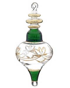 engraved glass with gold fill l shape christmas ornament tradi
