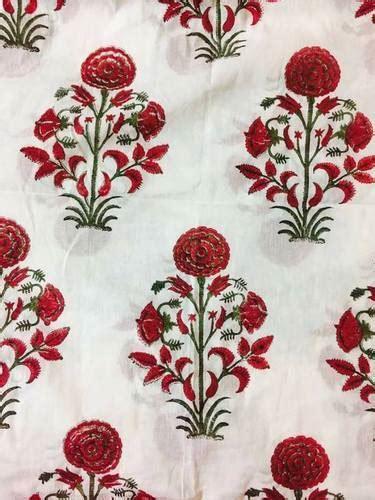 cotton multi jaipuri printed fabric gsm   rs