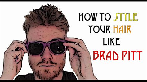 how to style your hair like how 2 cut your own hair like brad pitt diy faux hawk 3805