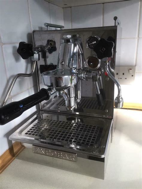 This espresso machine has a dial with grind settings so you can easily adjust the grind size and the compact size of the barista express allows you to place it even in the smallest kitchen. Expobar professional coffee machine with Iberital grinder   in Aberdeen   Gumtree