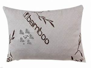 bamboo covered stay cool shredded gel memory foam pillow With bed pillows that stay cool