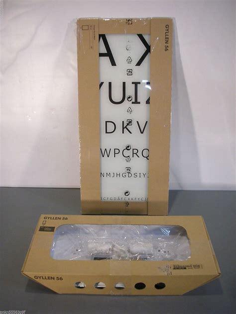 new ikea gyllen 56 eye chart wall light fixture w light box david wahl design needful things