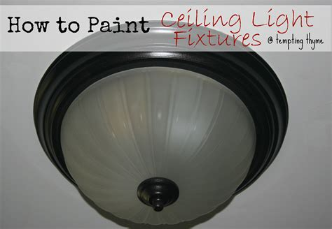 paint   ugly light fixture tempting thyme
