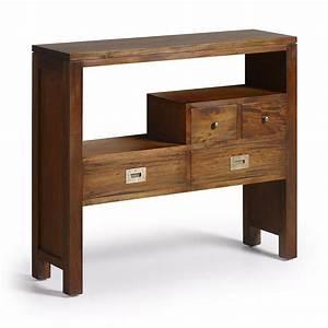 console design colonial meuble d39entree en bois exotique With meuble pour petite entree 4 console en bois de palettes design