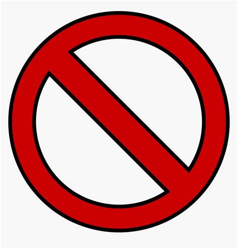 Banned Symbol Png Red No Circle Png Transparent Png