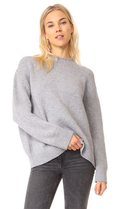 lyst anine bing cashmere chunky knit sweater  gray