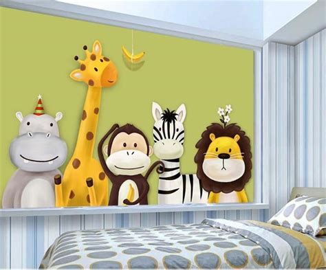 Custom Mural Wallpaper Children's Room Bedroom Cartoon