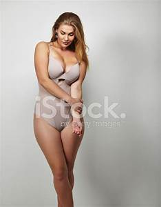Attractive Plus Size Young Lady IN Body Stocking Stock ...