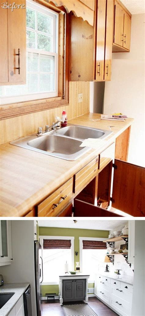 kitchen makeover pictures before and after before and after 25 budget friendly kitchen makeover ideas 9494