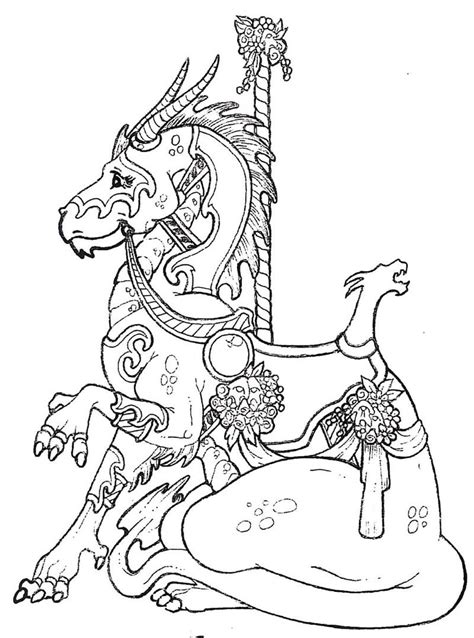 carousel book template carousel dragon stlistic stencils coloring pages