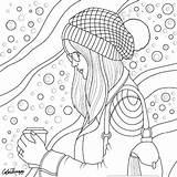 Coloring Adult Blank Printable Adults Sheets Books Mandala Idea Colorear Dibujos Drawing Doodle Knitted Hat sketch template