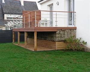 Terrasse sur pilotis ma terrasse for Plan de terrasse en bois sur pilotis