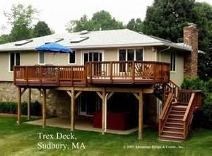 high decks high madeira trex deck over patio sudbury