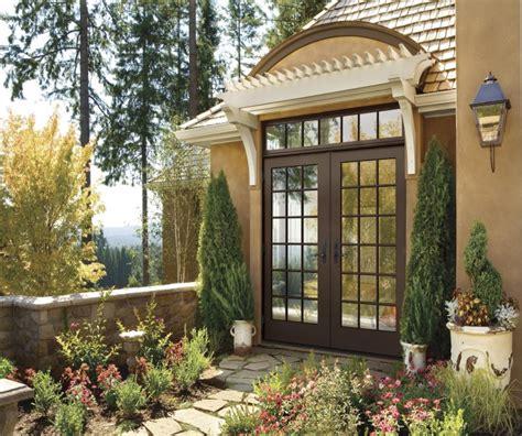 white wooden glass door frames for patio