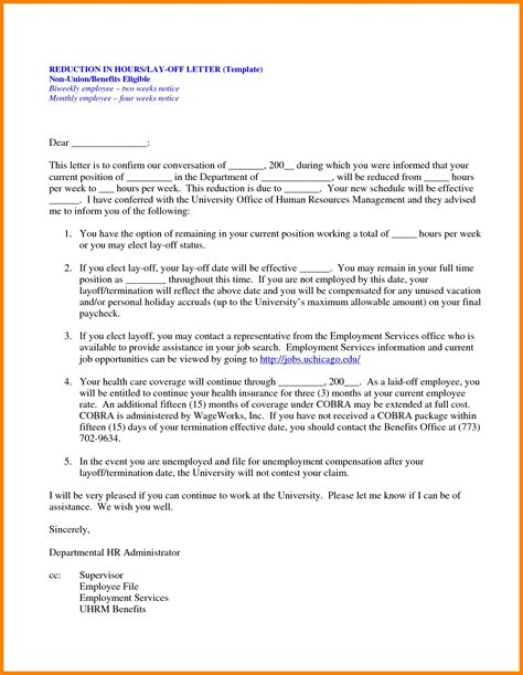 change  working hours letter  employee letters