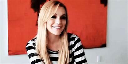 Lohan Lindsay Smile Gifs Kiss Giphy