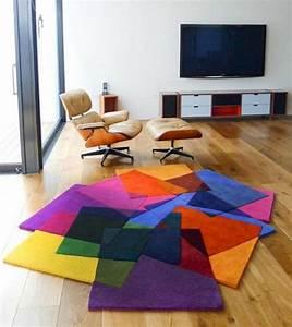 Tapis Salon Moderne : le tapis design la meilleure option pour votre chambre design ~ Teatrodelosmanantiales.com Idées de Décoration