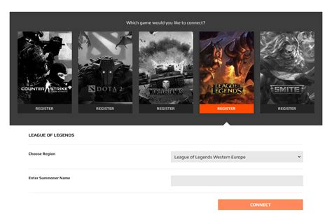 initial game registration lol faq faceit