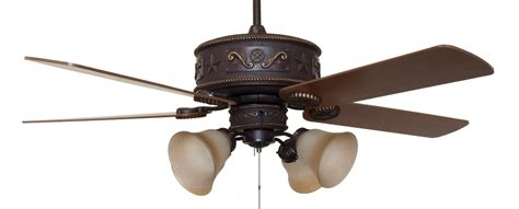cc kvwst lk2flg10 western lighted ceiling fan with