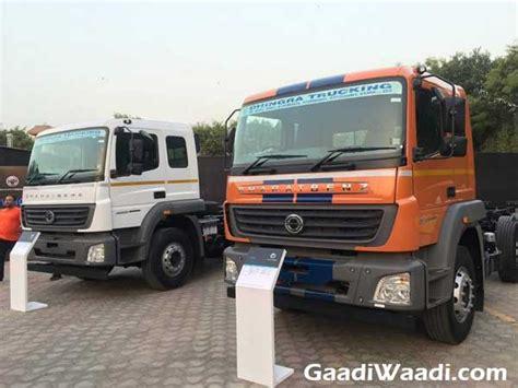 bharat benz launches  range  heavy duty trucks