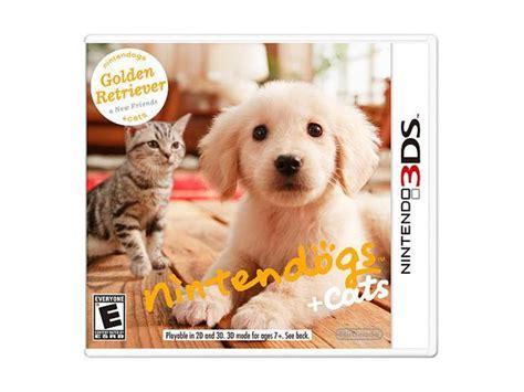 nintendogs cats golden retriever   friends ds
