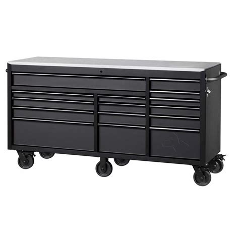 husky      drawer mobile workbench stainless