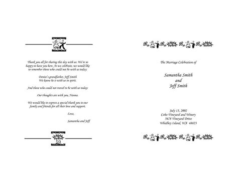 Christian Wedding Program Thank You Message Criolla