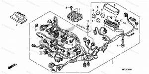 Honda Motorcycle 2009 Oem Parts Diagram For Wire Harness  Cbr1000rr