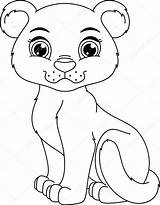 Panther Coloring Pages Cougar Clipart Panthers Illustration Face Cartoon Vector Cub Cute Illustrations Clip Template Printable Depositphotos Drawings Getcolorings Print sketch template