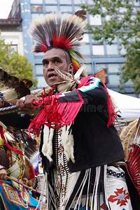 Agile Pow-wow Dancer Of The Plains Tribes Of Canada ...