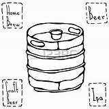 Keg Drawing Beer Getdrawings Illustration Barrel Metal Vector Drawings sketch template