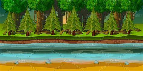game assets forest game background illustrations