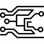 Icon Electronics Svg Technology Circuits Motherboard Noun