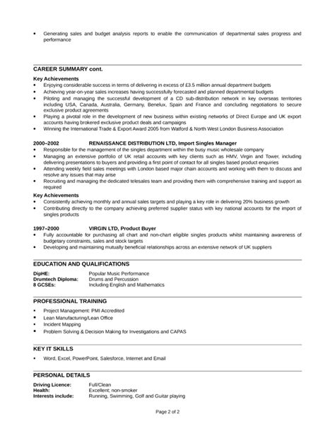 Telemarketer Resume by Professional Telemarketer Resume Template Page 2