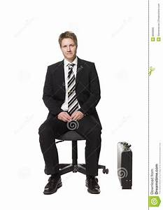 Businessman Sitting A Chair Stock Image