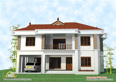 two houses 2 house elevation 2743 sq ft kerala home