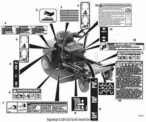 Ariens 915069  020000 -   15hp Kohler  34 U0026quot  Mower  1534  Parts Diagram For Decals
