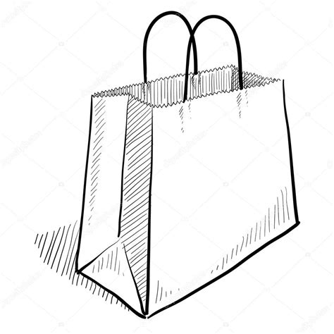 black and white handbag shopping bag sketch stock vector lhfgraphics 14134849