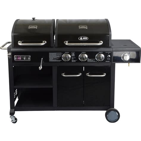 kombigrill gas holzkohle activa gas holzkohle kombi grillstation combo mit 3 brennern seitenbrenner kaufen bei obi