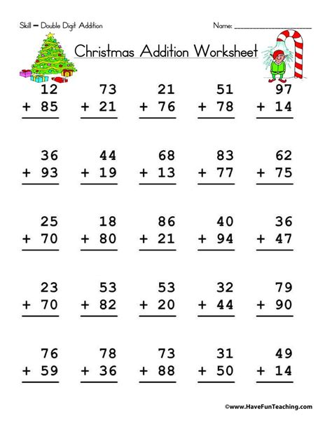 This page has printable pdf addition worksheets the problems on these files have no. Double Digit Addition With Regrouping Worksheet | Math ...