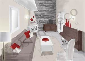 deco salon rouge et taupe With amazing exemple de decoration de jardin 6 cuisine rouge taupe