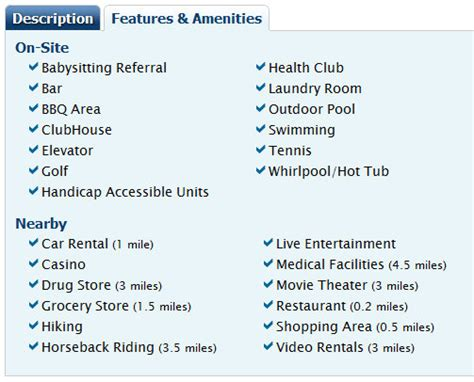 list of amenities the haute single mama redweek timeshare rental membership and cash giveaway